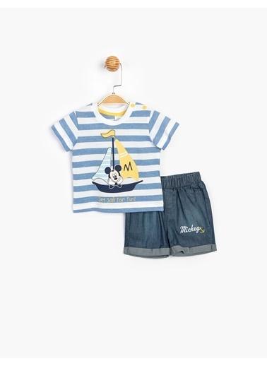 Mickey Mouse 2 li Takım Mavi
